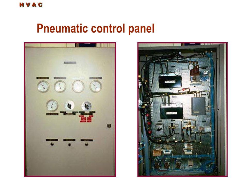 Pneumatic control panel H V A C