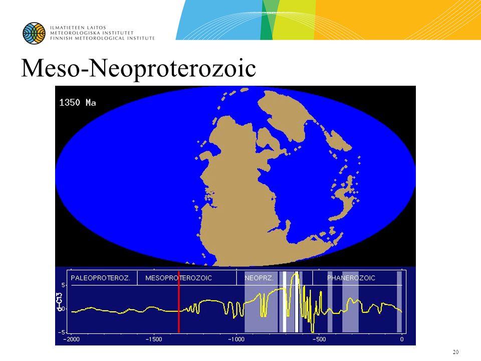 20 Meso-Neoproterozoic