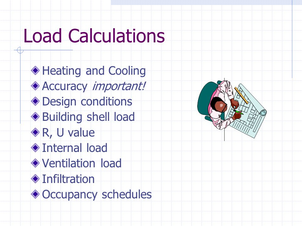 Load Calculations Heating and Cooling Accuracy important.