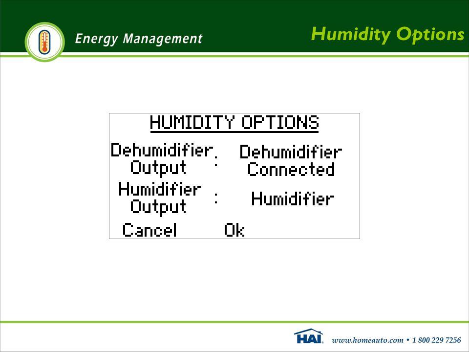 Humidity Options