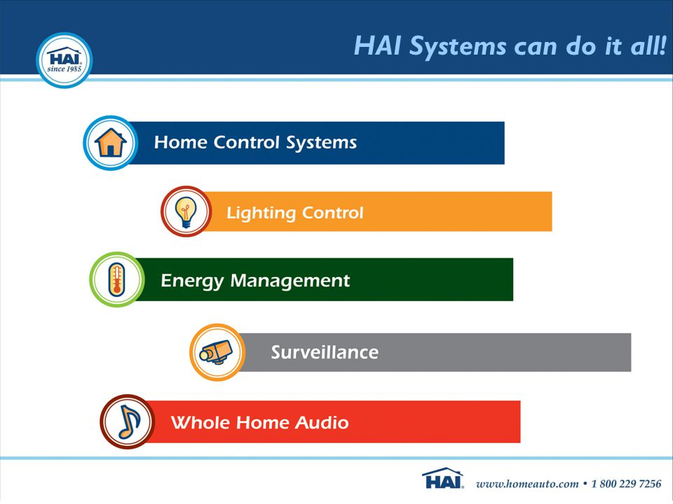 HAI Systems can do it all!