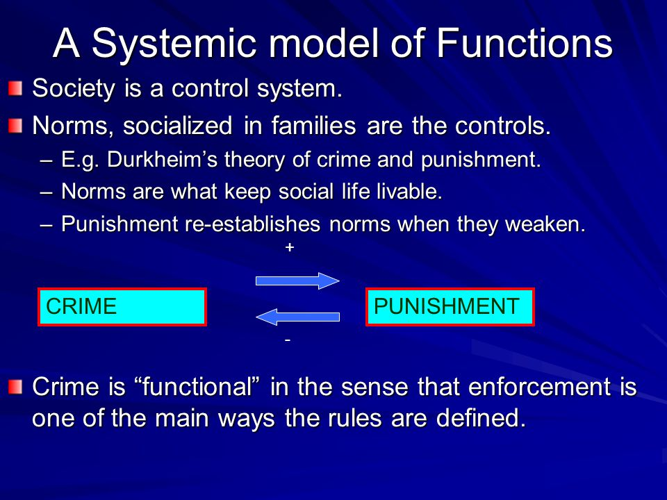 A Systemic model of Functions Society is a control system.