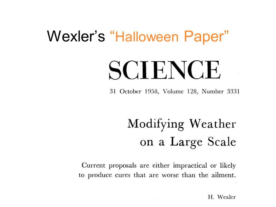 Wexler's Halloween Paper