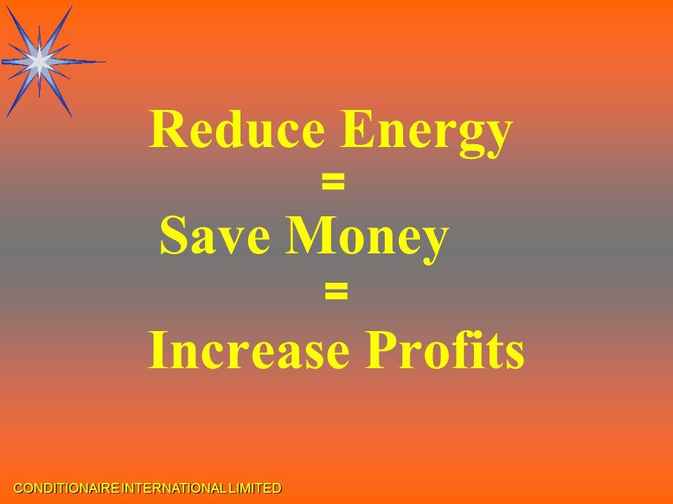 CONDITIONAIRE INTERNATIONAL LIMITED Increase Profits = Reduce Energy = Save Money