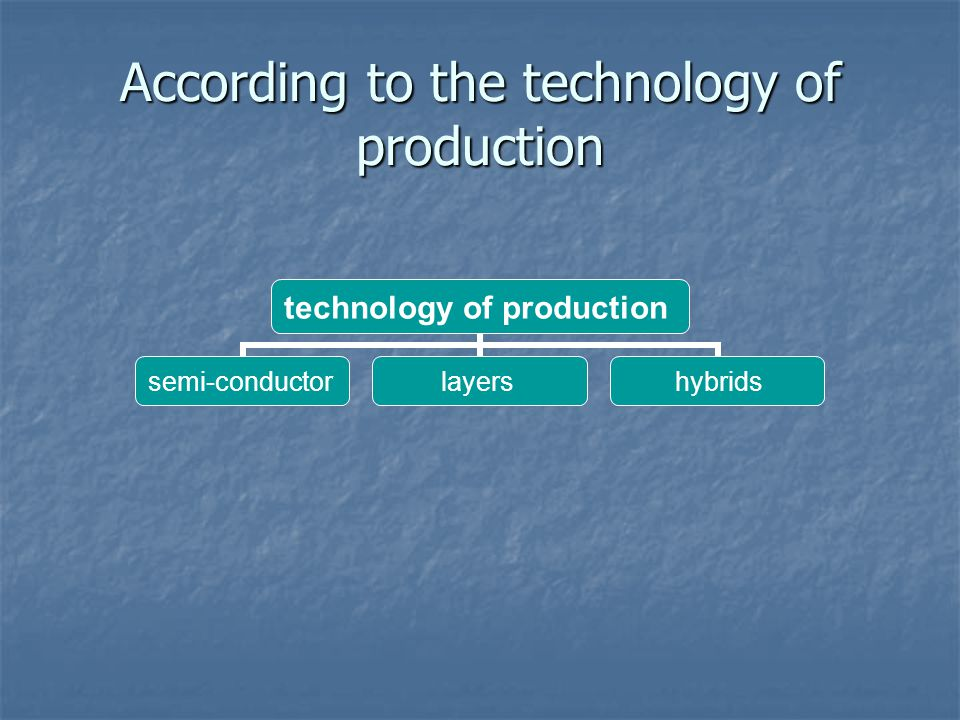 According to the technology of production technology of production semi- conductor layers hybrids