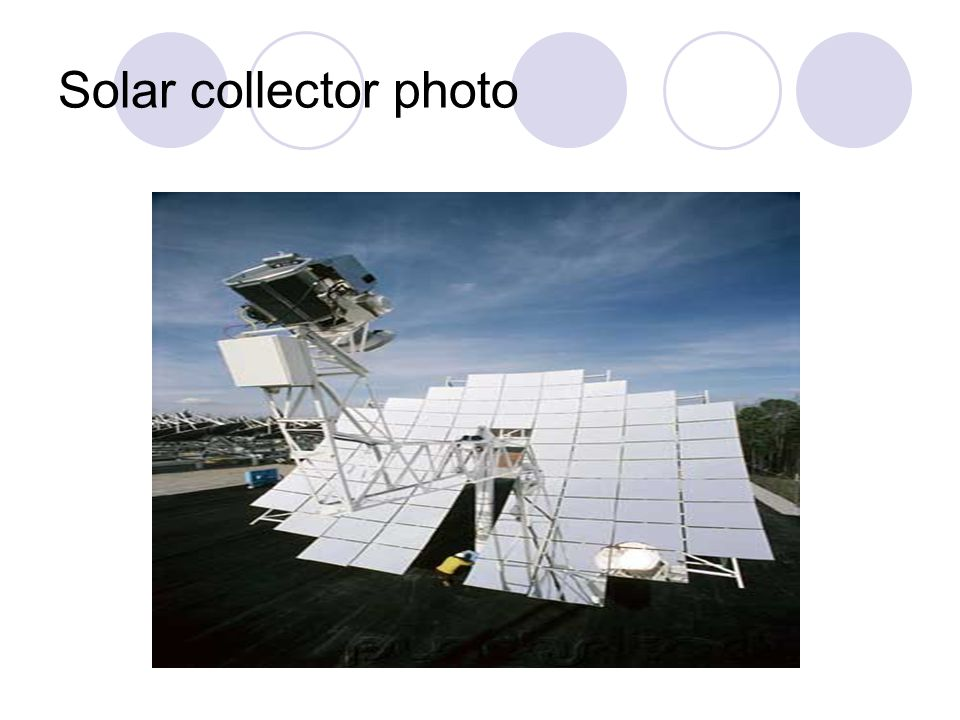 Solar collector photo