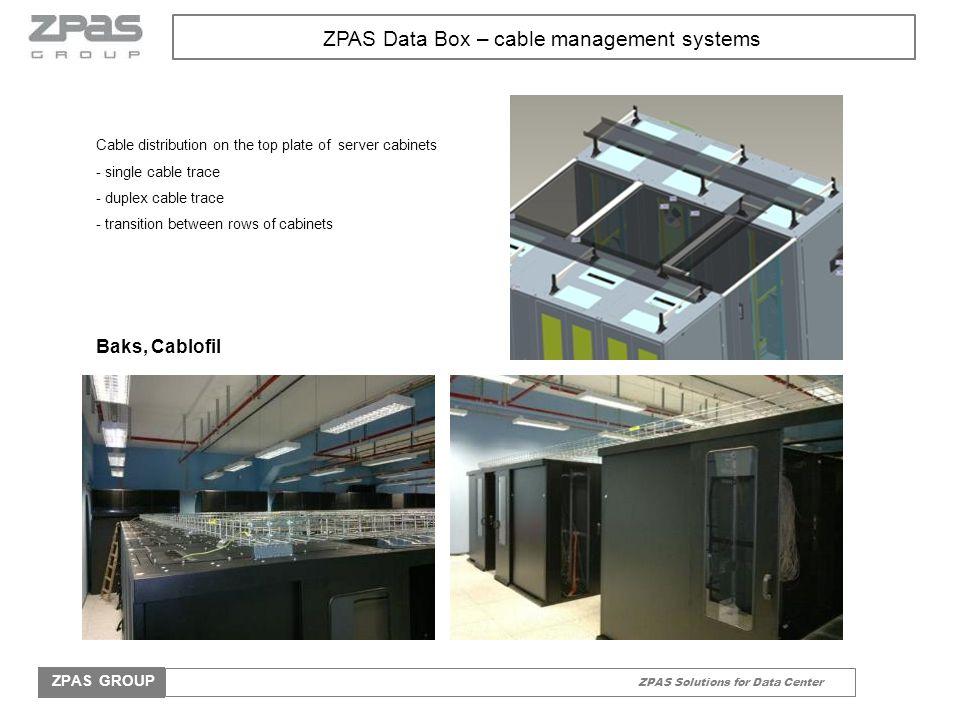 ZPAS Solutions for Data Center ZPAS GROUP ZPAS Air-conditioning systems Air-conditioning systems Heat exchangers ZPAS Row heat exchanger c Sideway heat exchanger Medium: water chiller, DX (R410A) Cooling efficiency: - Water chiller: 12,3 – 37,7kW - DX: 4,5 – 22,5kW Equipment: STULZ EC