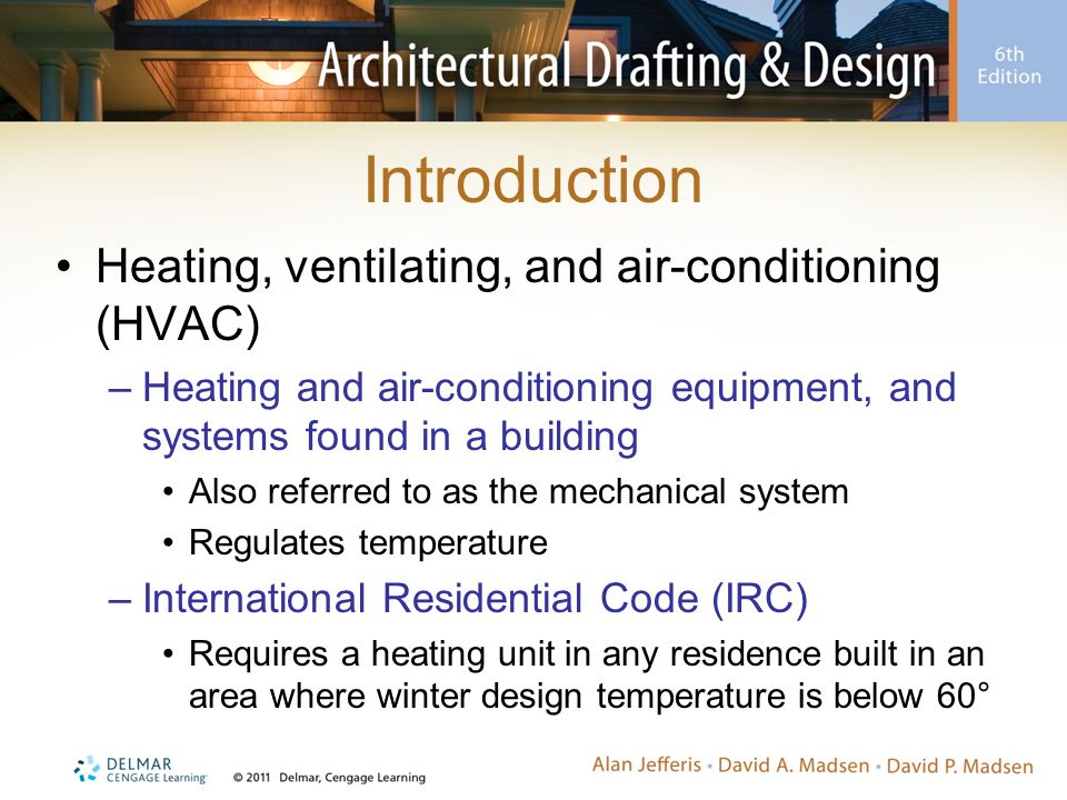Heat Pump Systems Forced-air central heating and cooling system –Compressor and circulating refrigerant system