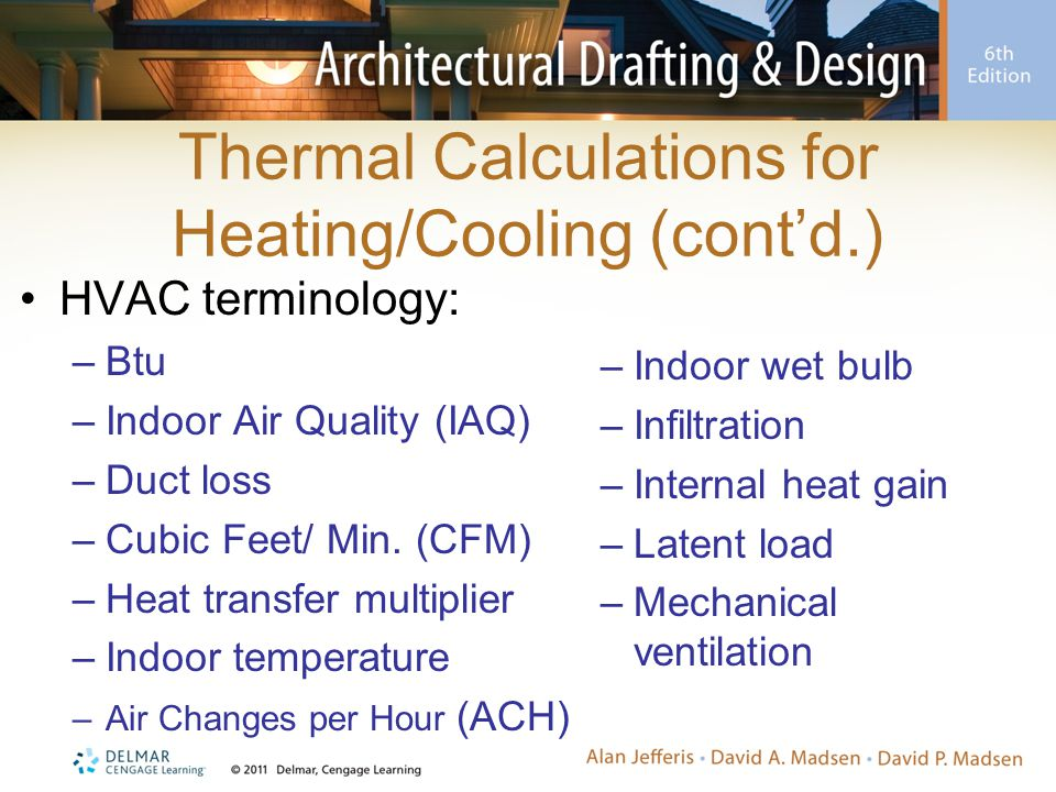 Forced-Air Heating Plans Complete forced-air heating plans show: –Size, location, and number of British thermal units (Btu) dispersed from warm-air supplies –Location and size of cold-air return –Location, type, and output of furnace Providing duct space (i.e., chase) –When ducted heating and cooling systems are used, duct location becomes important