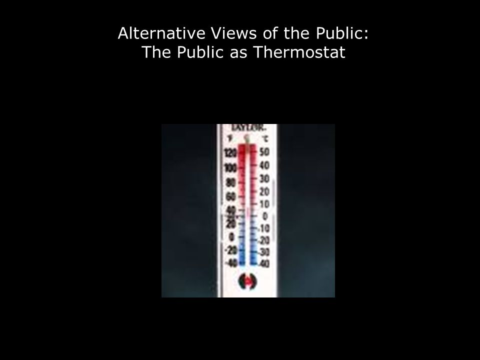 Alternative Views of the Public: The Public as Thermostat