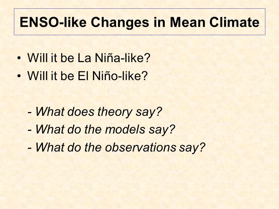 Tropical Pacific Trend Pattern vs ENSO Variability Source: IPCC AR4 WG1, Chp 10