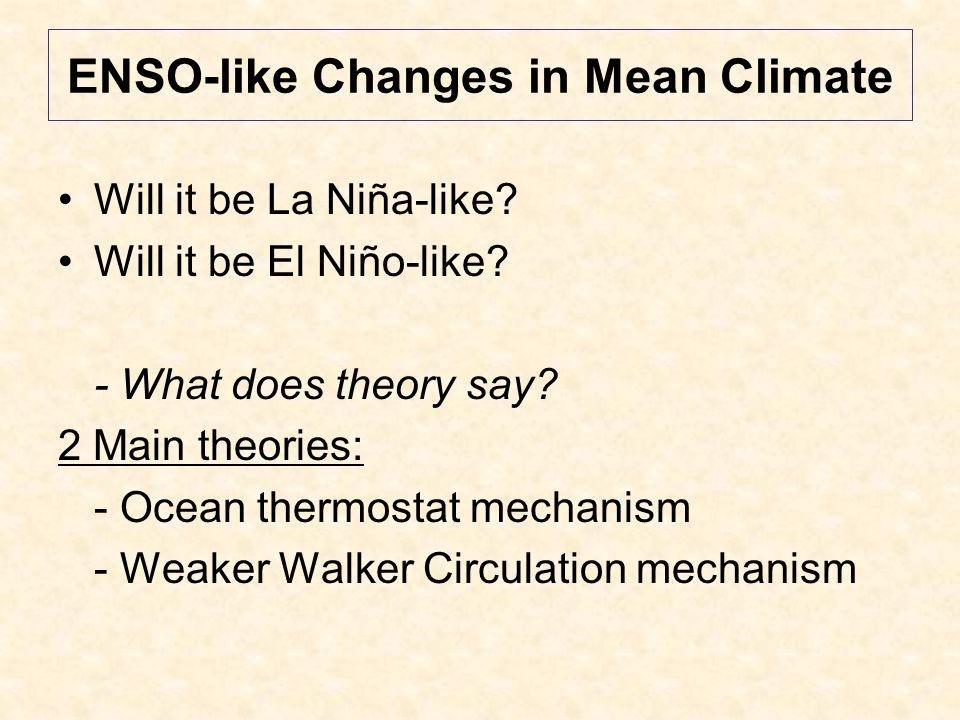 Changes in El Niño Variability More or less.Stronger or weaker.