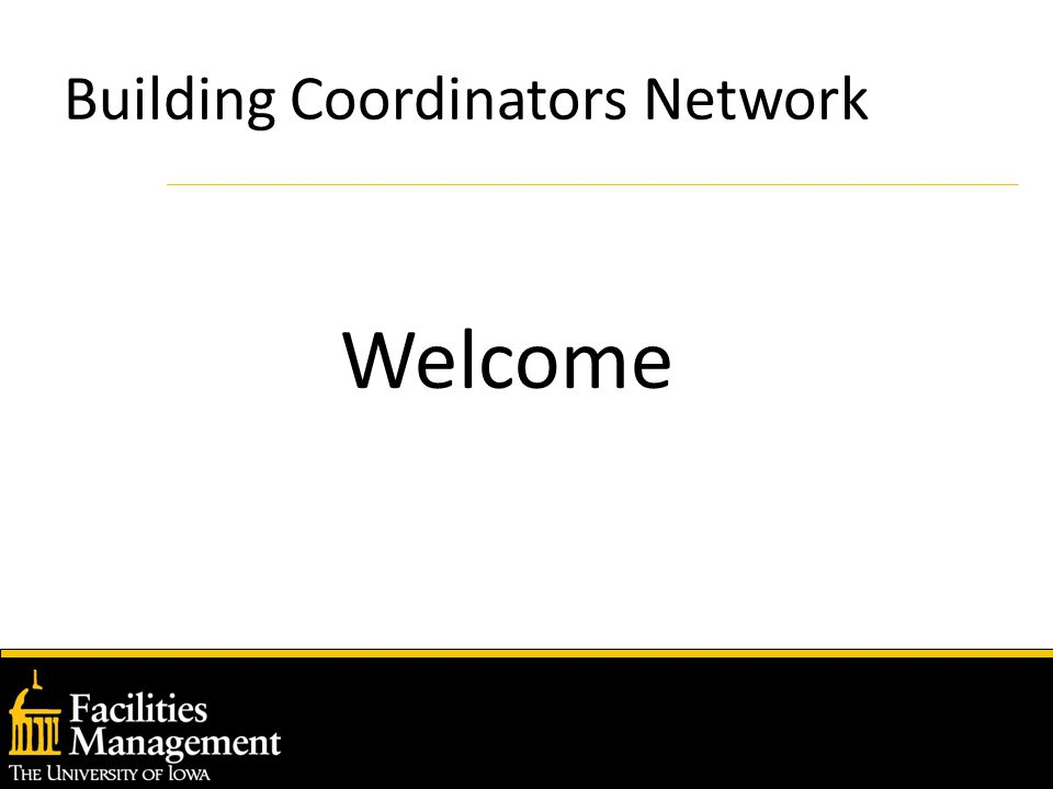Building Coordinators Network Welcome