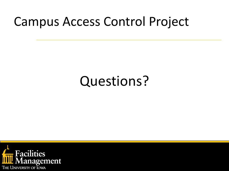 Campus Access Control Project Questions