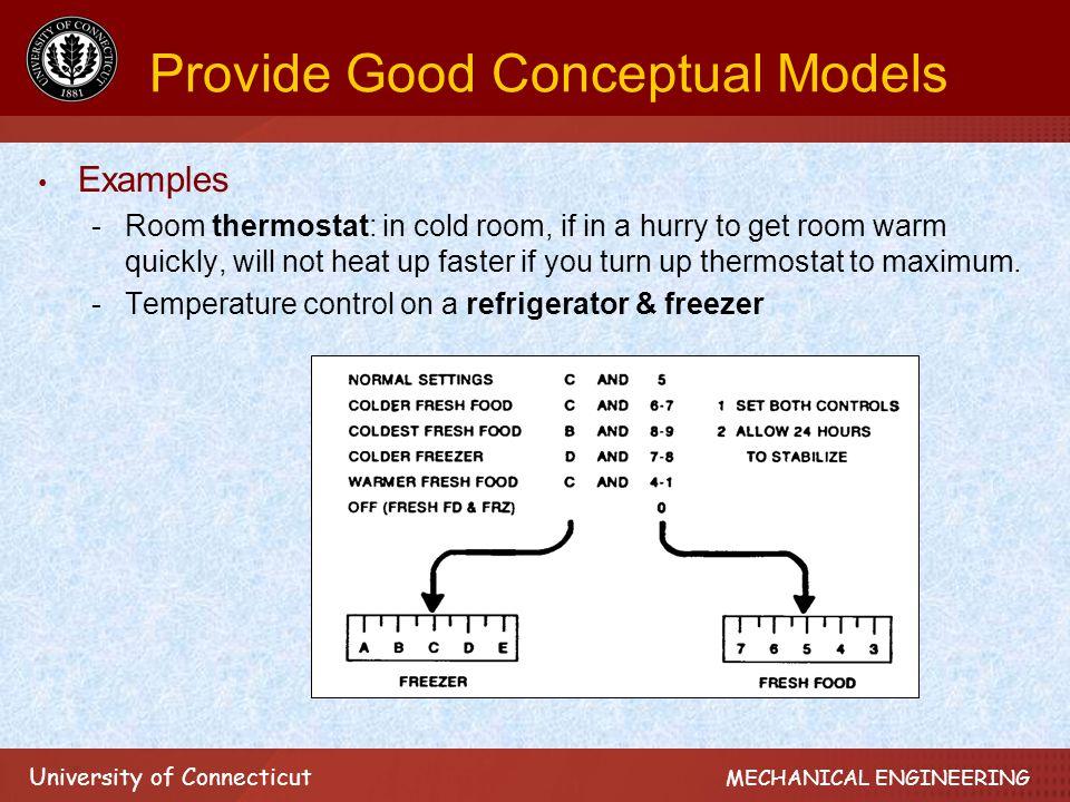 University of Connecticut MECHANICAL ENGINEERING Design for Zero Errors Design for avoiding misinterpretation, e.g.