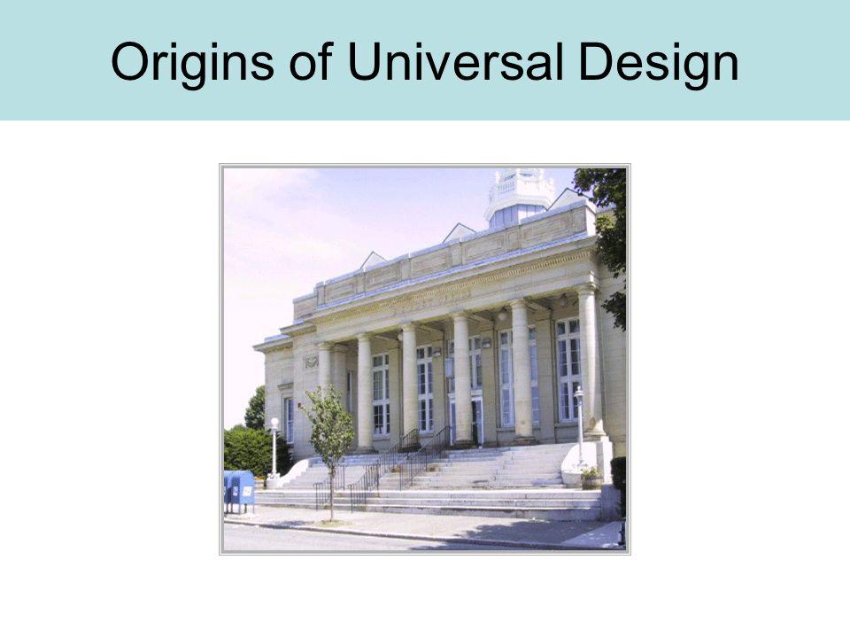 Origins of Universal Design
