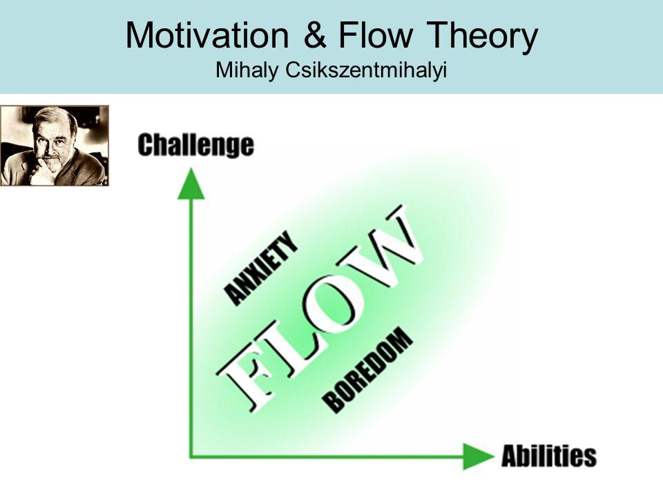 Motivation & Flow Theory Mihaly Csikszentmihalyi