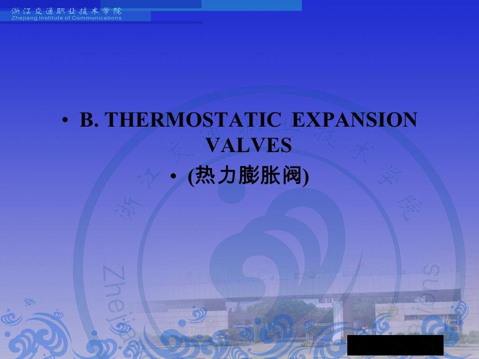 B. THERMOSTATIC EXPANSION VALVES ( 热力膨胀阀 )
