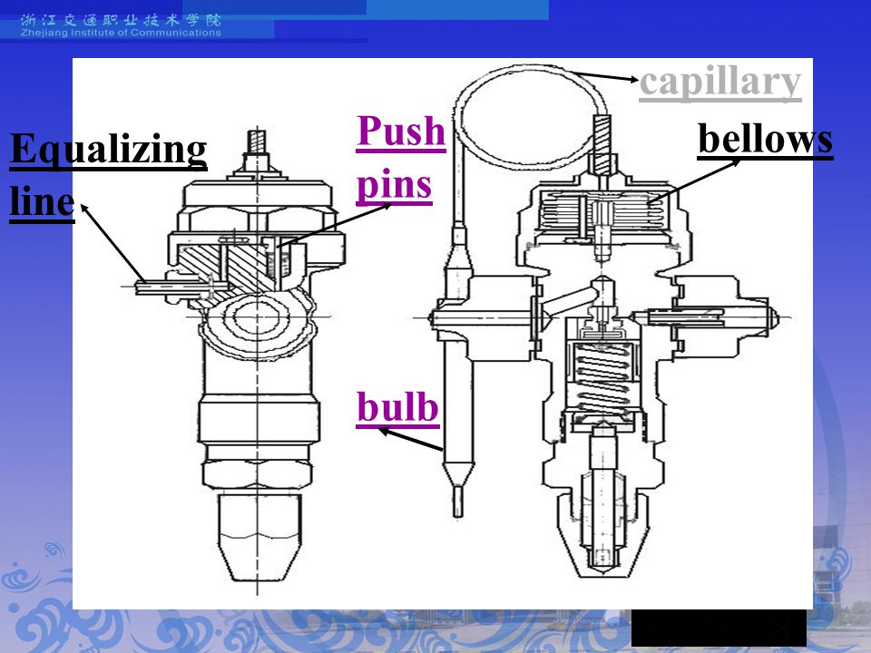 capillary bellows Push pins bulb Equalizing line