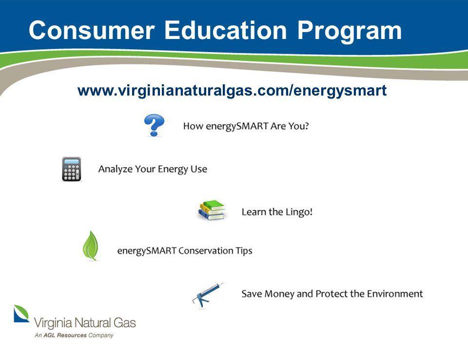 Consumer Education Program www.virginianaturalgas.com/energysmart