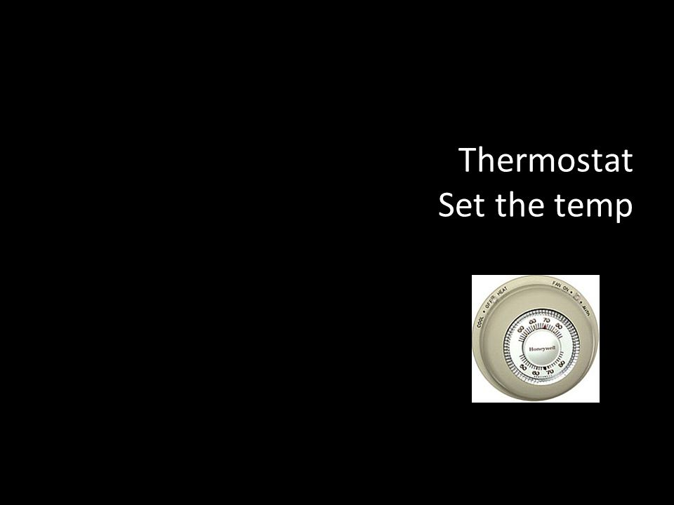 Thermostat Set the temp