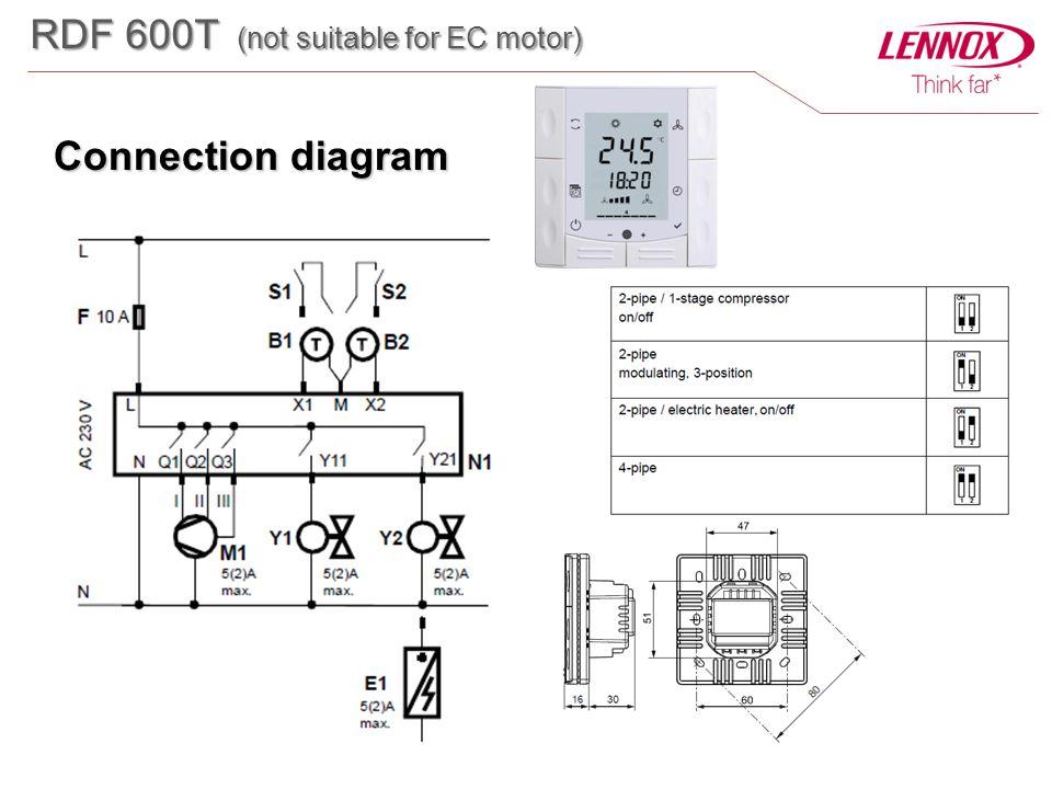 Connection diagram RDF 600T (not suitable for EC motor)