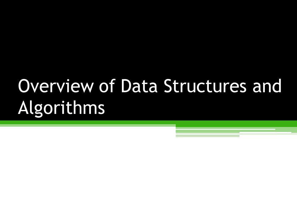Data Structures and Algorithms A data structure is an arrangement of data in a computer's memory (or sometimes on a disk).