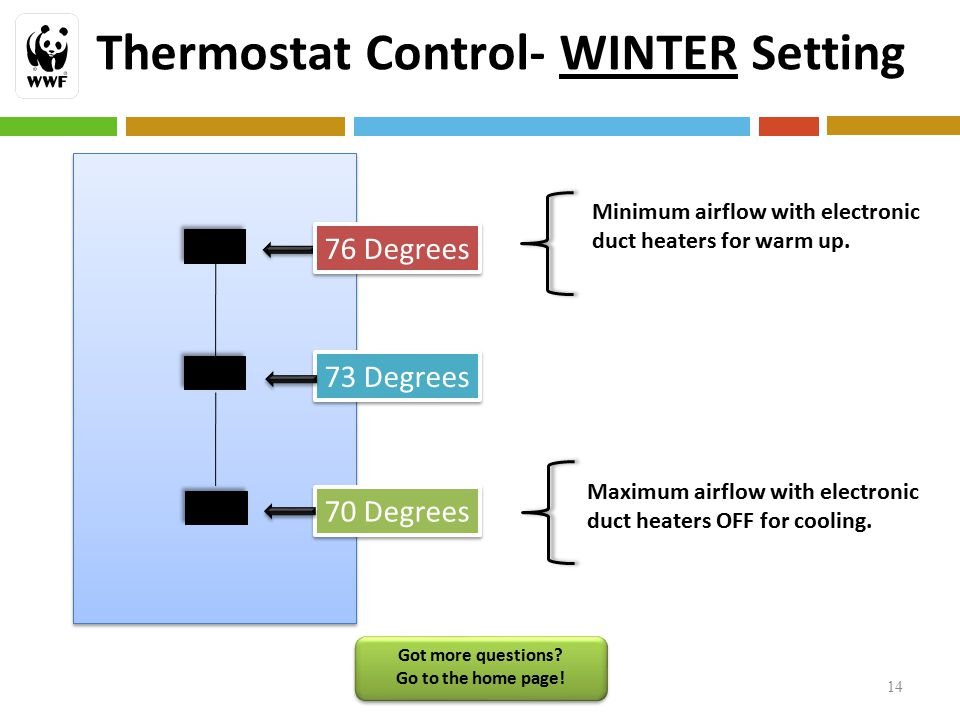 Thermostat Control- WINTER Setting 14 Got more questions.