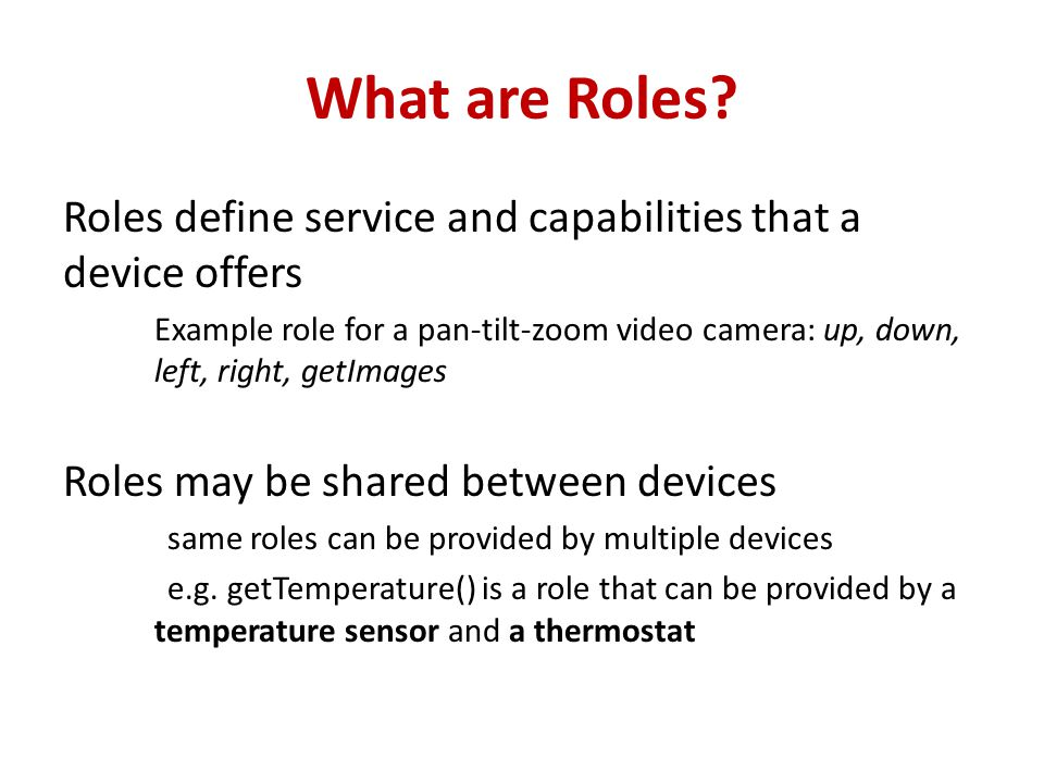 What are Roles.