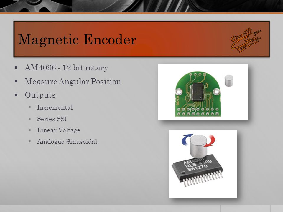  AM4096 - 12 bit rotary  Measure Angular Position  Outputs  Incremental  Series SSI  Linear Voltage  Analogue Sinusoidal Magnetic Encoder
