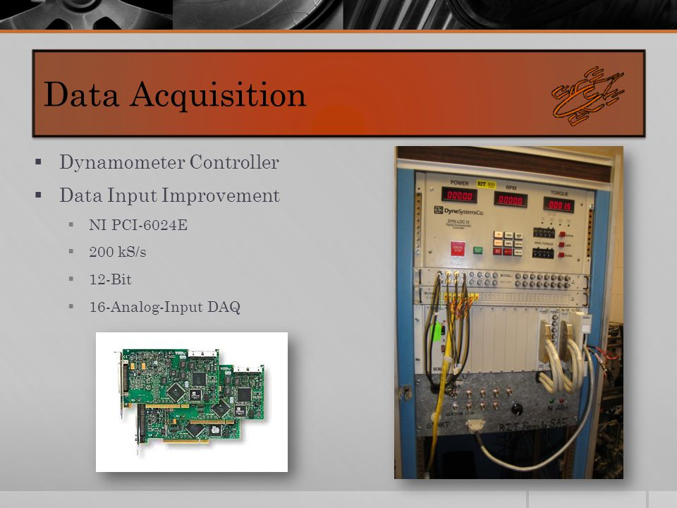  Dynamometer Controller  Data Input Improvement  NI PCI-6024E  200 kS/s  12-Bit  16-Analog-Input DAQ Data Acquisition