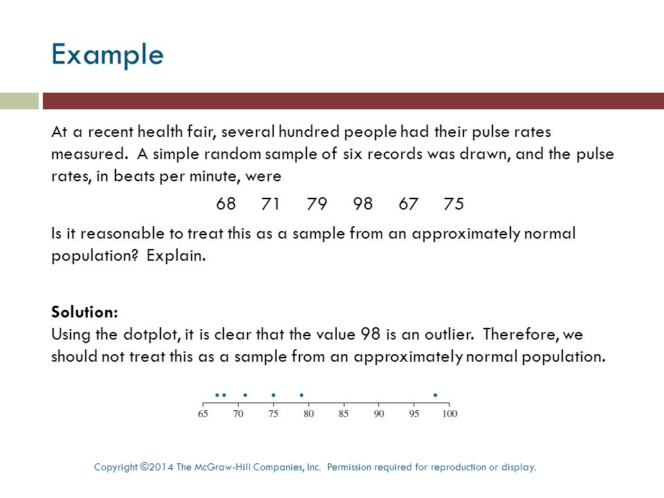 Procedure for Normal Quantile Plots Copyright ©2014 The McGraw-Hill Companies, Inc.