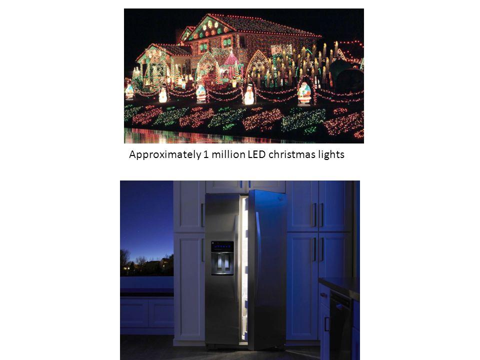 Approximately 1 million LED christmas lights