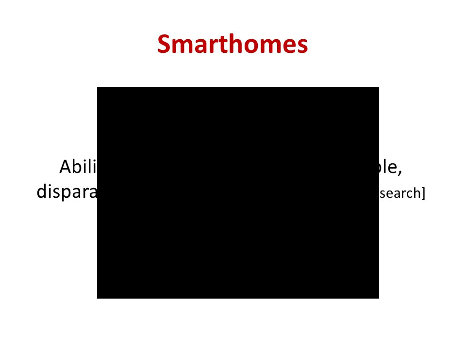 Smarthomes Ability to automate and control multiple, disparate systems within the home [ABI Research]