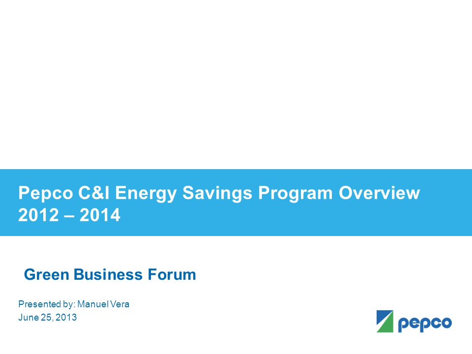 June 25, 2013 Wilbur G. Williams Gaithersburg Campus Energy Management System