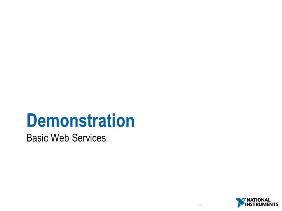 64 Demonstration Basic Web Services