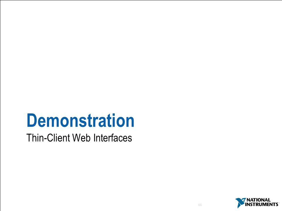 66 Demonstration Thin-Client Web Interfaces