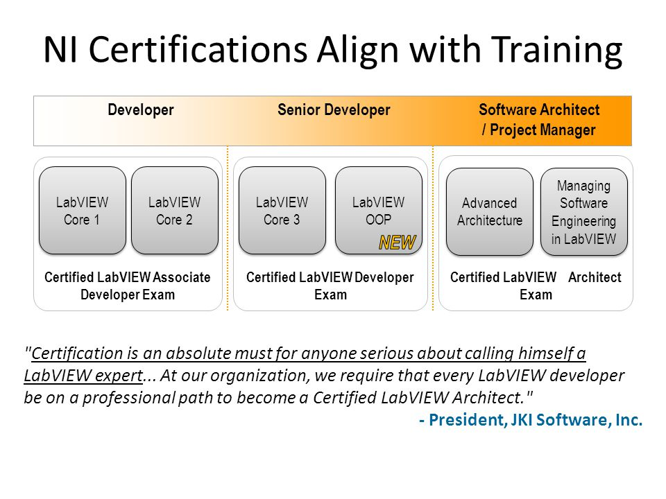 Certified LabVIEW Developer Exam Certified LabVIEW Architect Exam Certified LabVIEW Associate Developer Exam DeveloperSenior Developer Software Archit