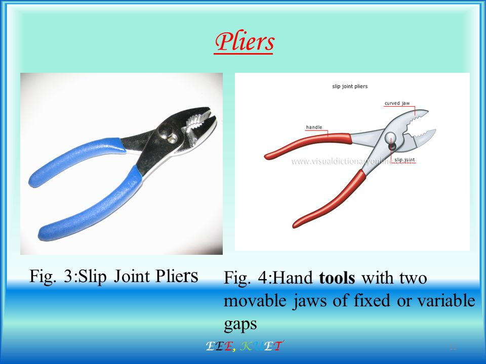 Pliers Fig. 3:Slip Joint Plie rs Fig.