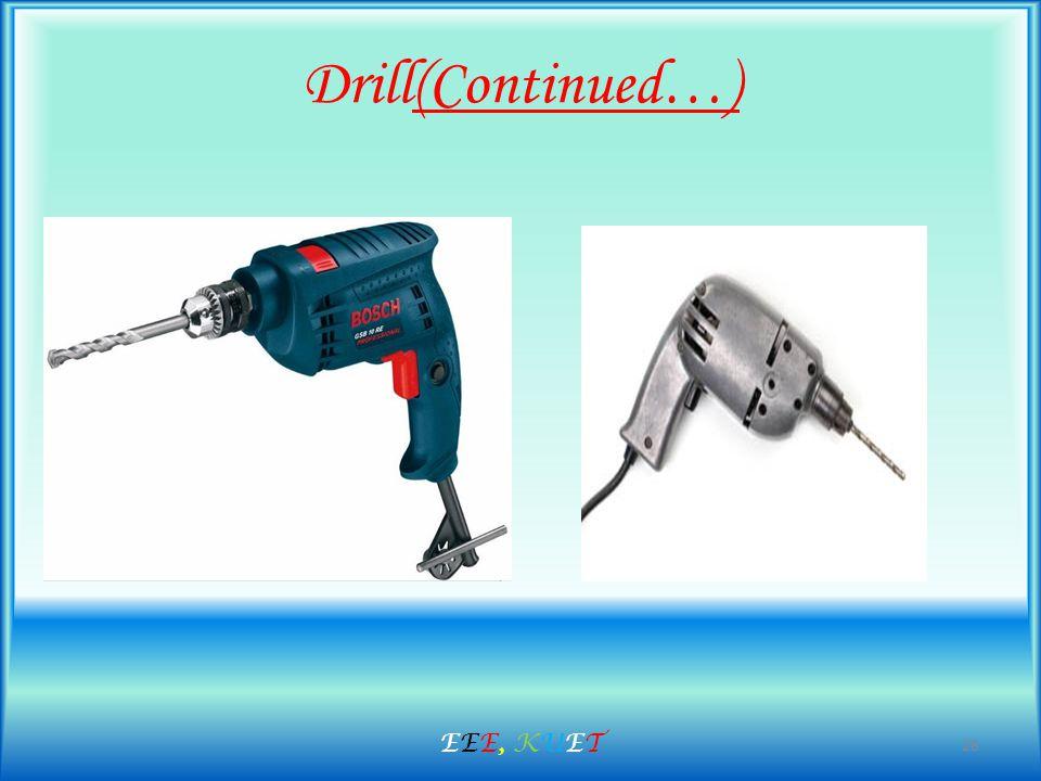 Drill(Continued…) 28 EEE, KUETEEE, KUET