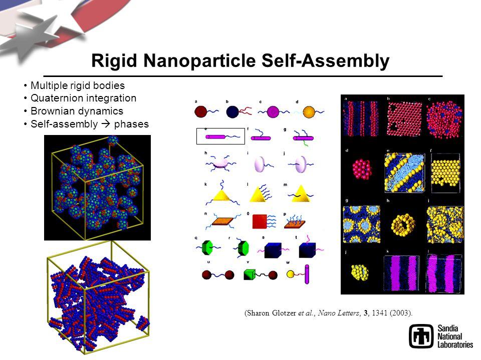 Rigid Nanoparticle Self-Assembly (Sharon Glotzer et al., Nano Letters, 3, 1341 (2003).