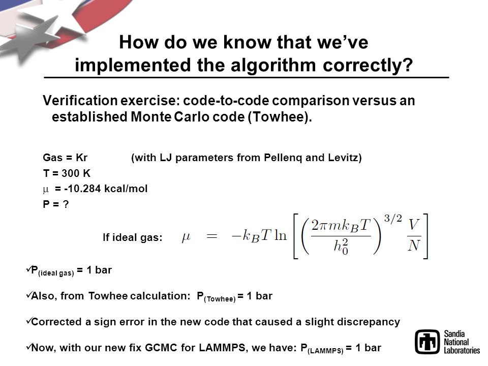 How do we know that we've implemented the algorithm correctly.