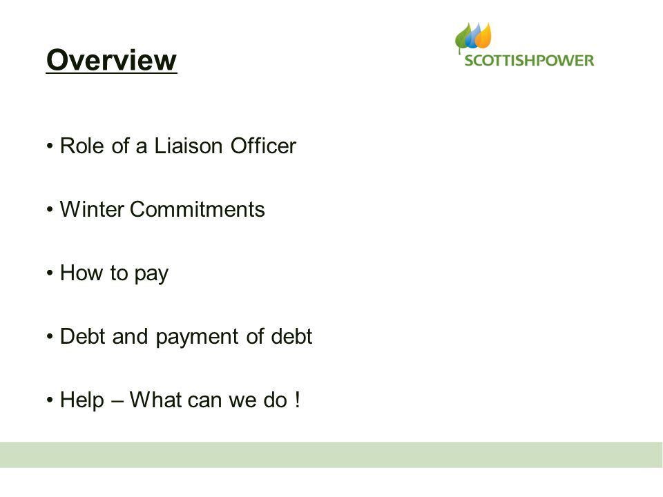 Role of a Liaison Officer Winter Commitments How to pay Debt and payment of debt Help – What can we do .