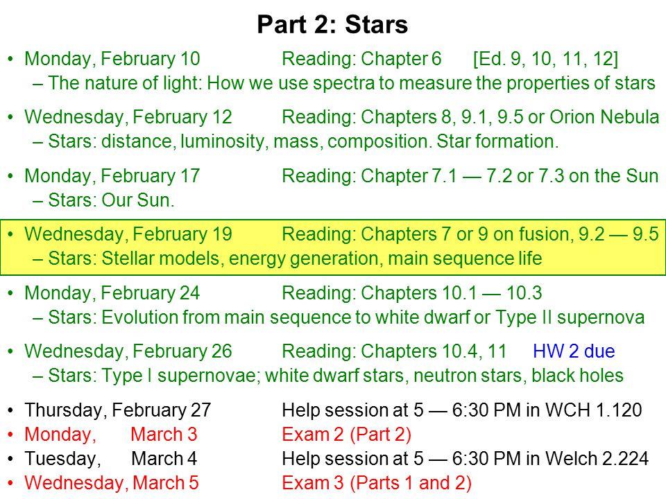 Monday, February 10Reading: Chapter 6 [Ed.