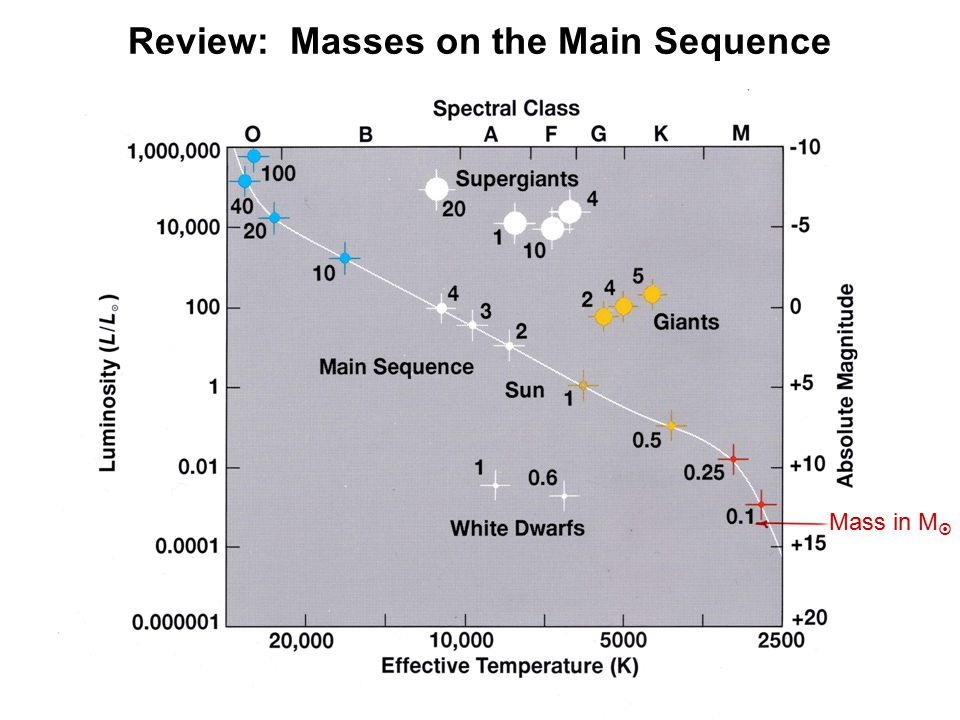 Review: Masses on the Main Sequence Mass in M 