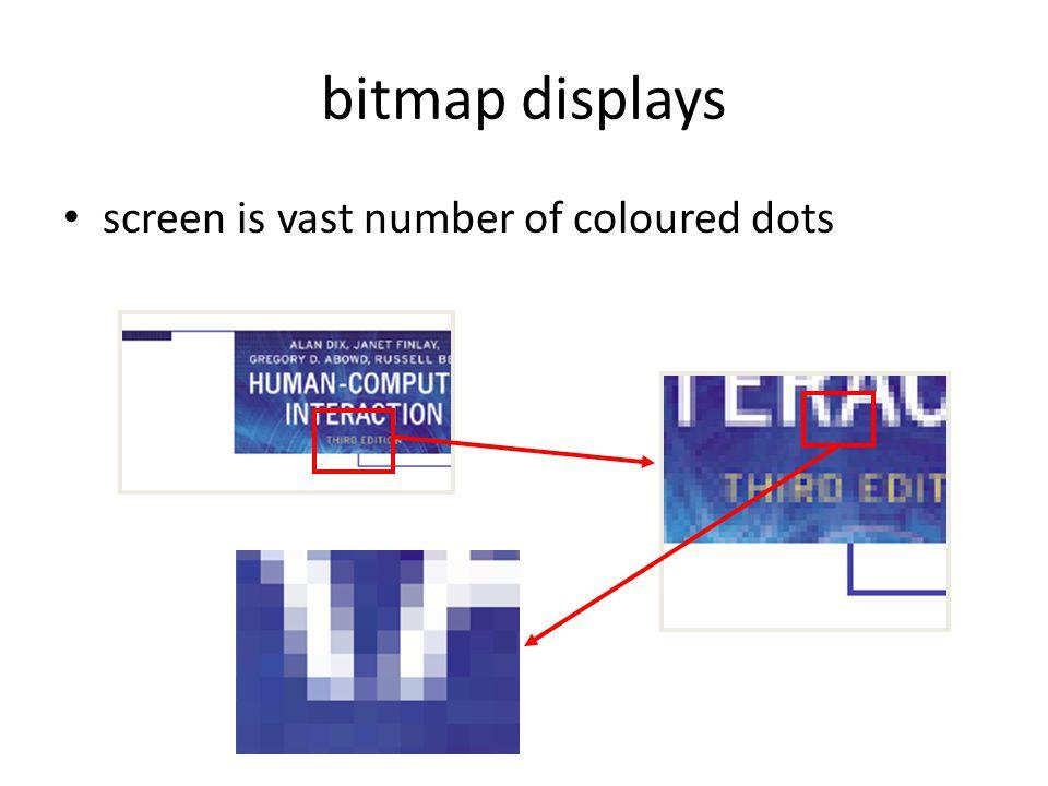 bitmap displays screen is vast number of coloured dots