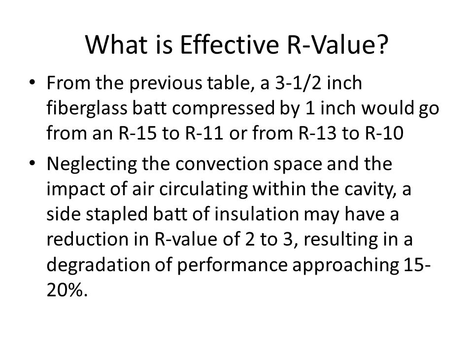 What is Effective R-Value.
