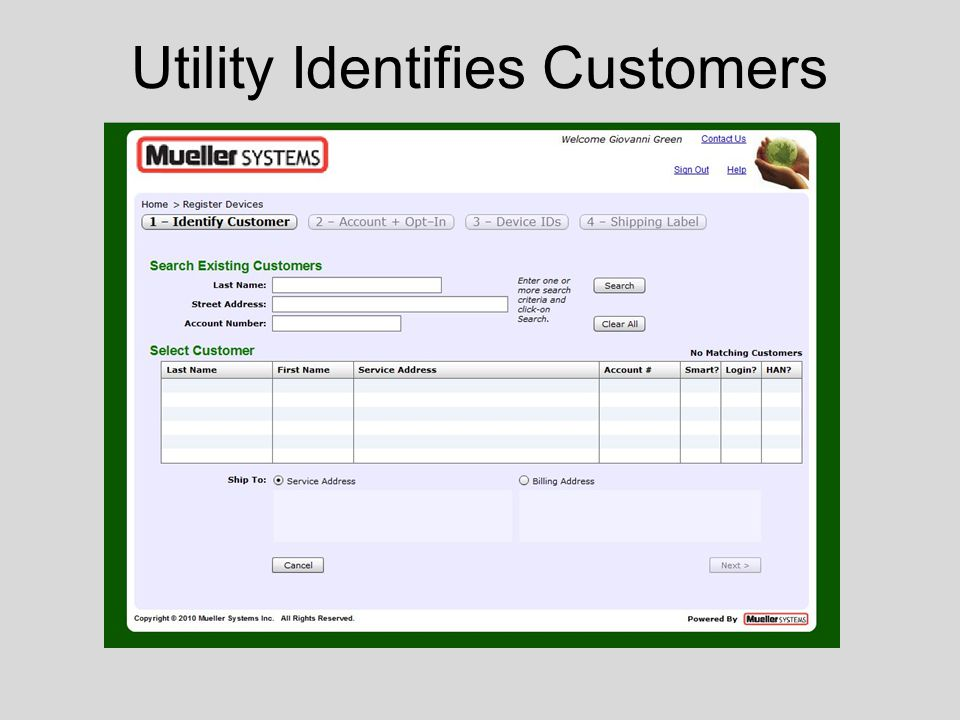 Utility Identifies Customers