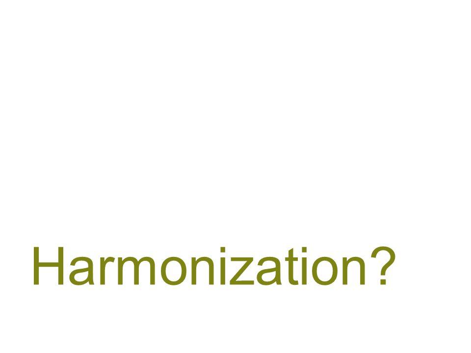 29 Harmonization?
