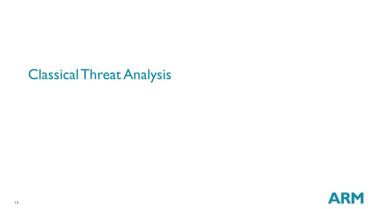 13 Classical Threat Analysis